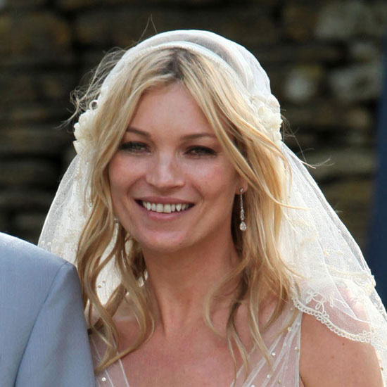 Pictures of Kate Moss's Wedding Hair and Veil From Different Angles