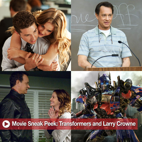 Movie Sneak Peek — Transformers: Dark of the Moon and Larry Crowne