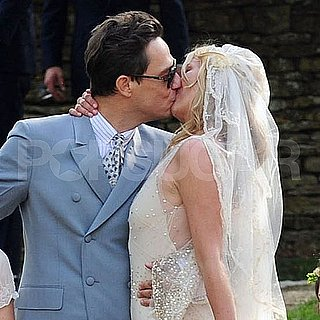 Kate Moss Wedding Dress Pictures With Husband Jamie Hince