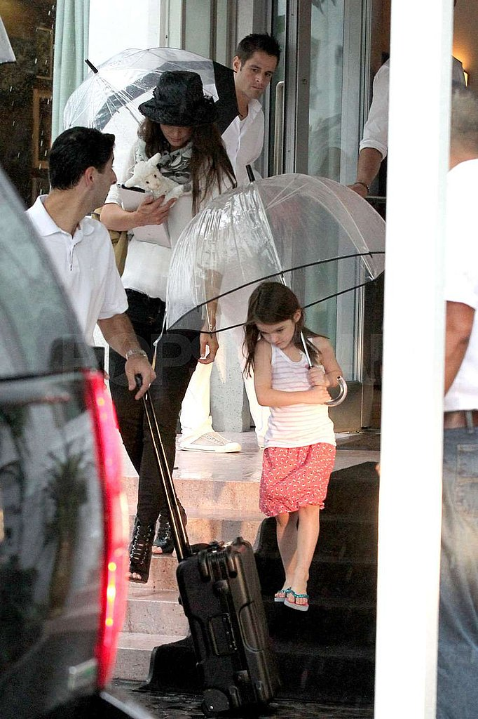 Katie Holmes and Suri Cruise made a splash.