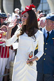 Kate Middleton Wears a Red Fascinator and Familiar Reiss Dress on Canada Day With Prince William!