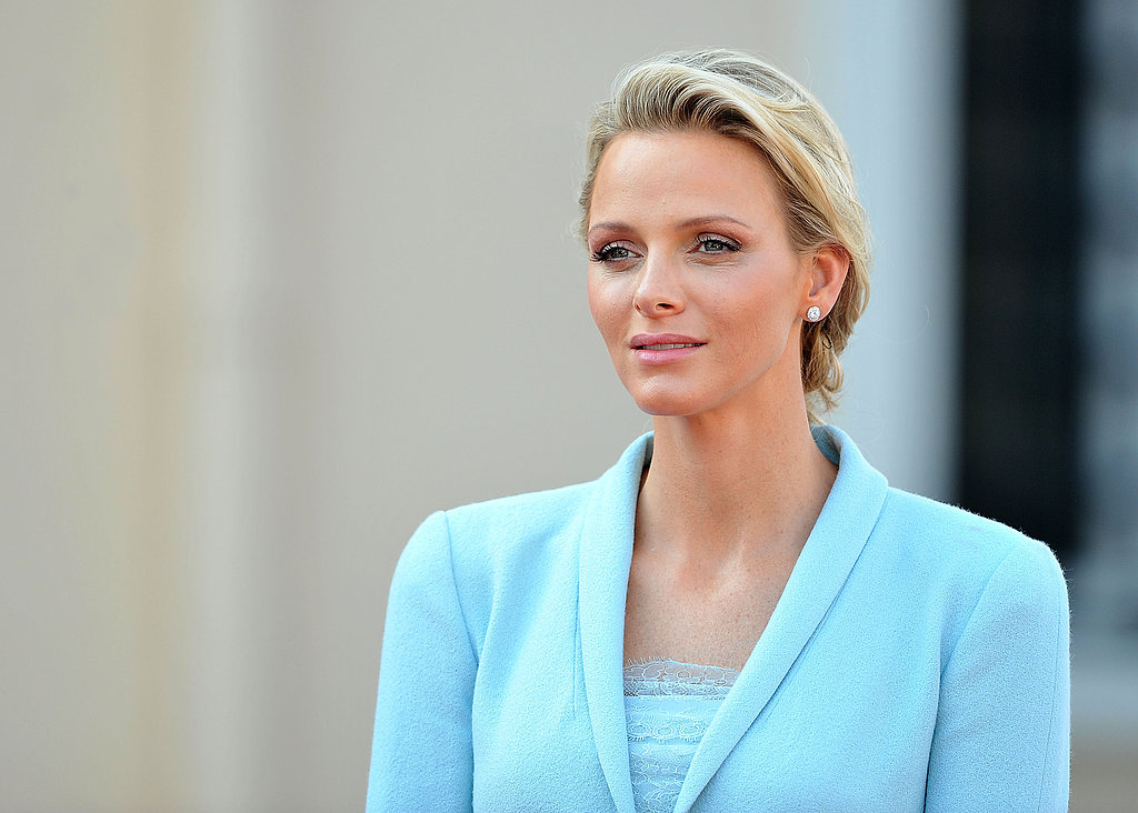Princess Charlene of Monaco looks stunning in blue Chanel.