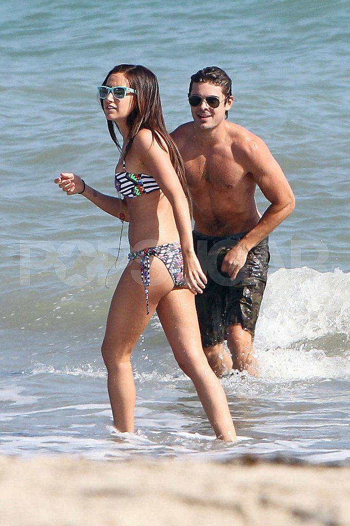 Shirtless Zac Efron and Bikini-Clad Ashley Tisdale Get Super Playful on the Malibu Beach