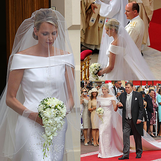 First Look — Charlene Wittstock Wears Giorgio Armani For Royal Religious Wedding Ceremony