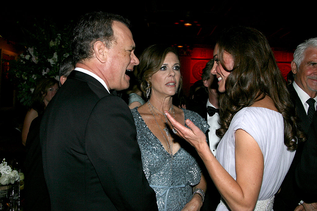 Tom Hanks and Rita Wilson with Kate Middleton at the BAFTA Brits to Watch event in LA.