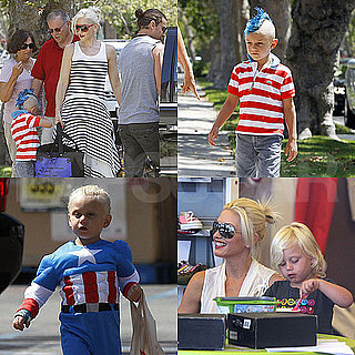 Gwen Stefani With Kingston and Zuma on Fourth of July