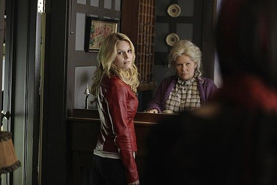 Jennifer Morrison and Beverly Elliot on ABC's Once Upon a Time.  Photo copyright 2011 ABC, Inc.
