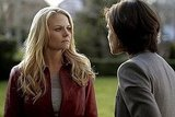Jennifer Morrison and Lana Parrilla on ABC's Once Upon a Time.  Photo copyright 2011 ABC, Inc.