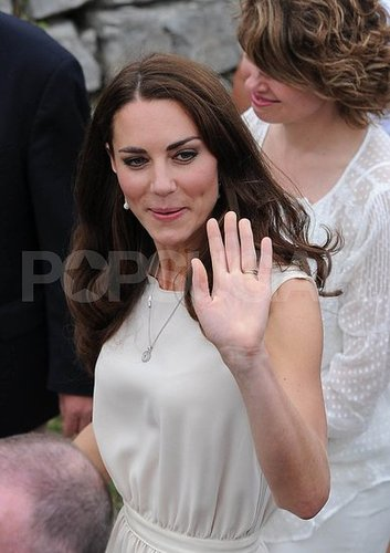 Kate Middleton chose simple jewelry on July 3.