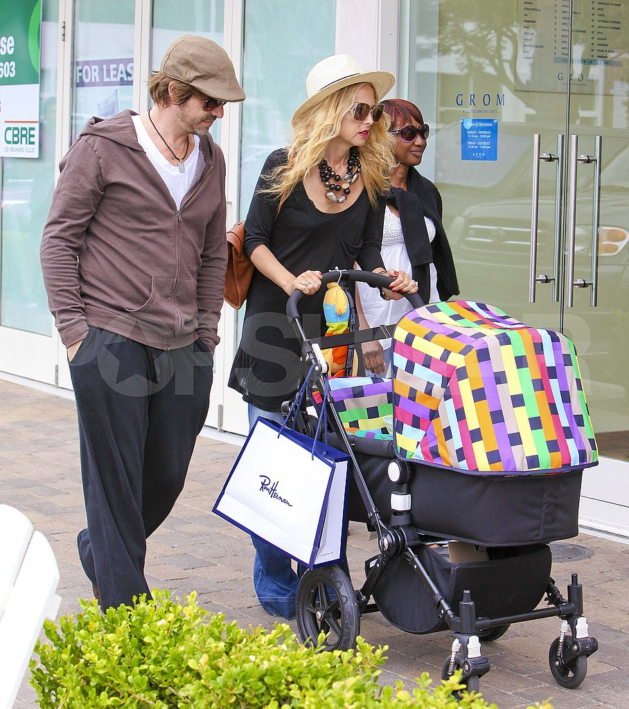 Rachel Zoe pushed Skyler Berman in his stroller as proud dad Rodger Berman looked on.