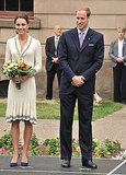 Kate Middleton wore Alexander McQueen by Sarah Burton with Prince William.