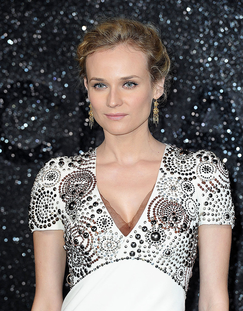 Diane Kruger wore white Chanel in Paris.