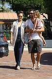 Jessica Alba and Cash Warren with Honor in Malibu.