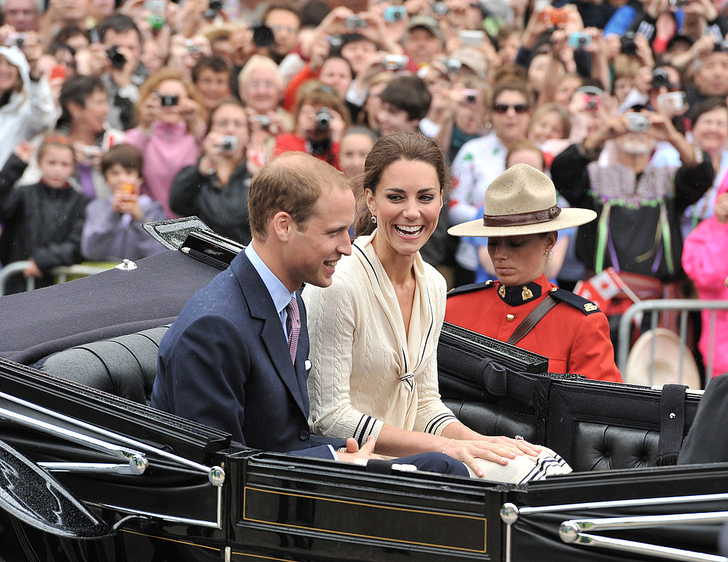 Kate Middleton and Prince William were protected by Mounties.