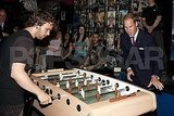 Prince William played foosball with youth at the Maison Dauphine's art center.