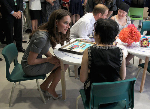 Kate Middleton visited with children at a cancer ward.