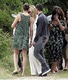 Kate Moss in Stella McCartney after her wedding.