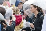 Kate Middleton kept the rain away.