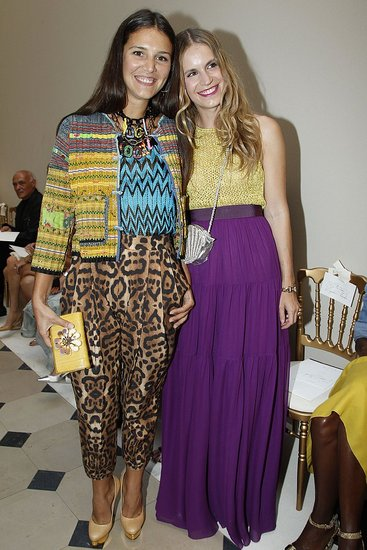 Margherita Missoni and Eugenie Niarchos