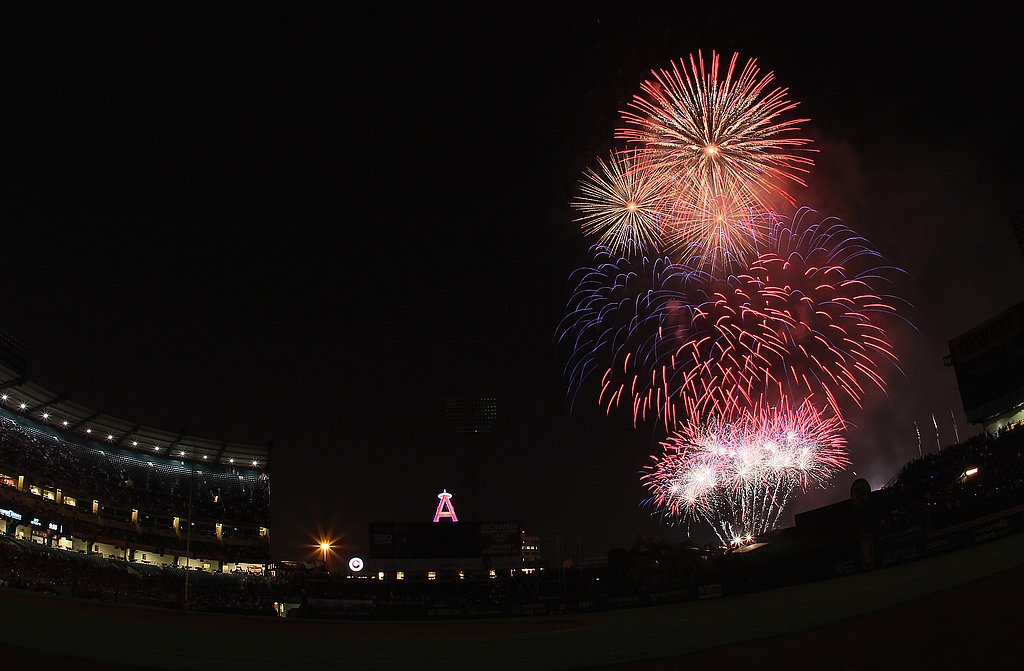Fireworks make an explosive ending to the Anaheim game between the Los Angeles Angels and the Detroit Tigers.