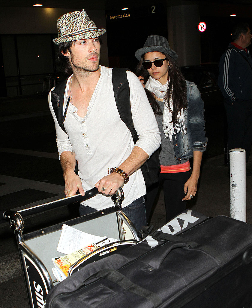 Nina Dobrev and Ian Somerhalder Wrap Up Their France Trip to Get Back to Work