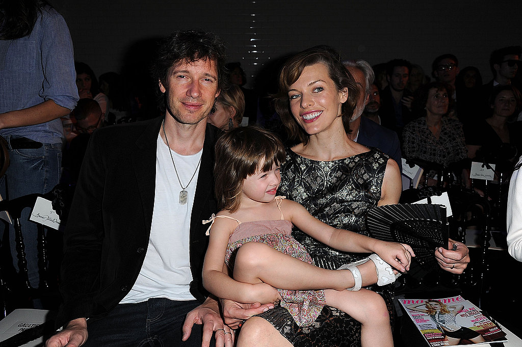 Milla Jovovich, Ever Anderson, and Paul W.S. Anderson posed for pictures in the front row.