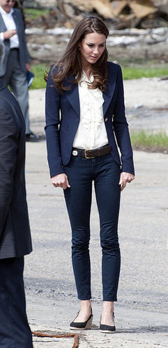 Kate Middleton wore jeans in Canada.