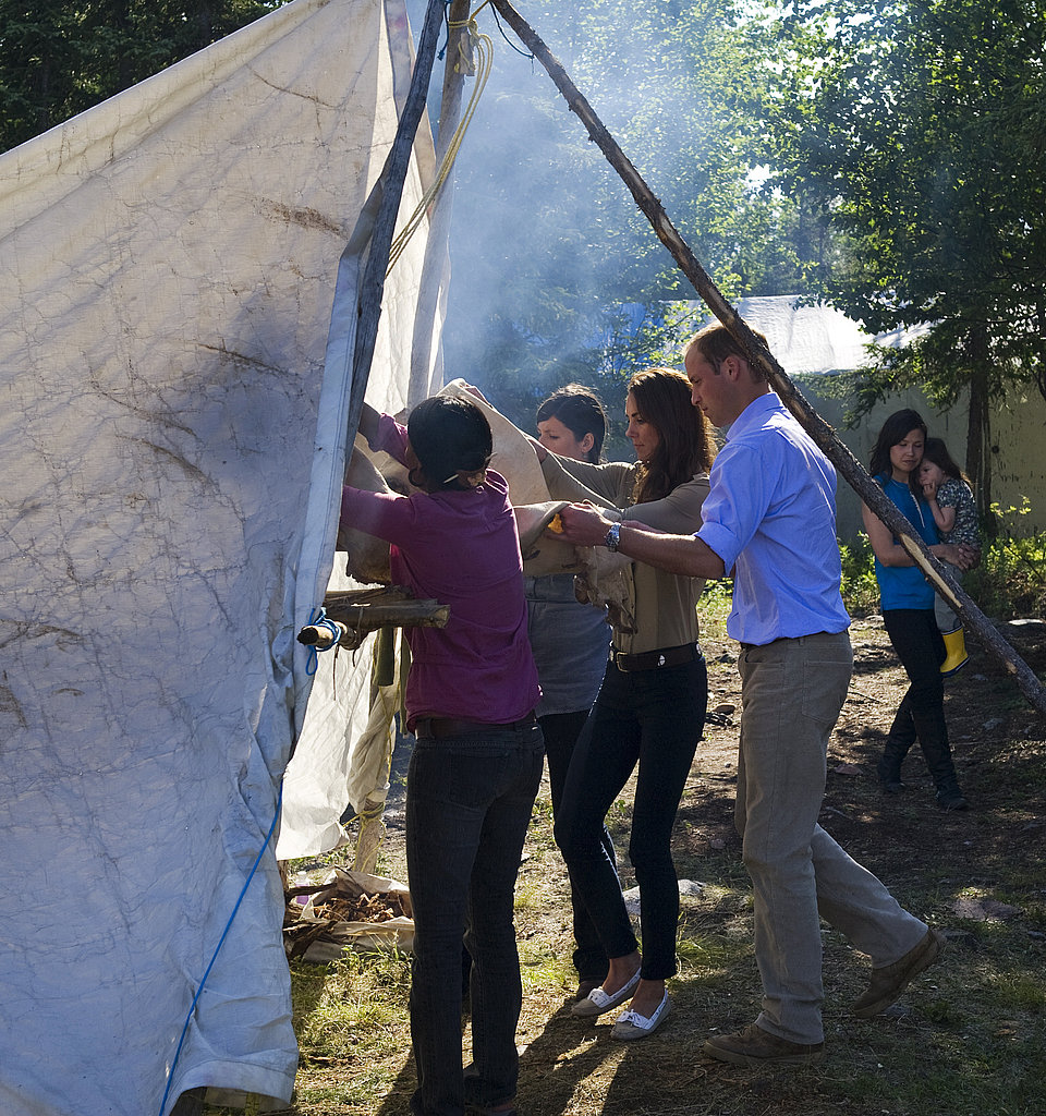Prince William and Kate Middleton walked into a teepee.