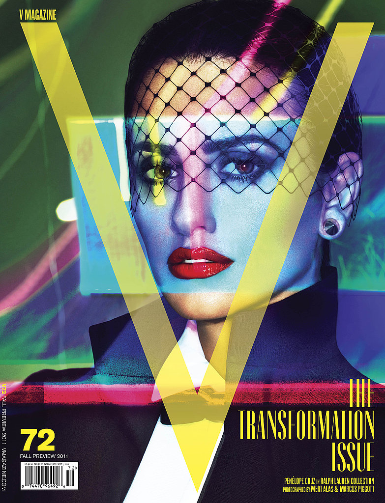 Penelope Cruz on the cover of V Magazine.