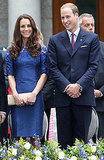Coordinating royal and navy, Will and Kate made a true blue couple this weekend in Canada.
