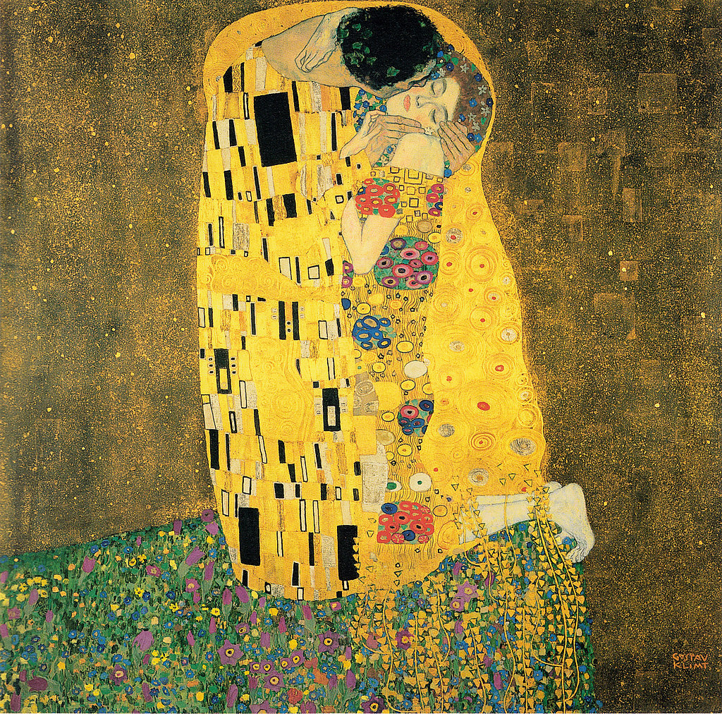 "One of Gustav Klimt's most famous paintings, if not the most famous, is ""The Kiss,"" which he worked on from 1907 to 1908. Source: Wikimedia Commons"