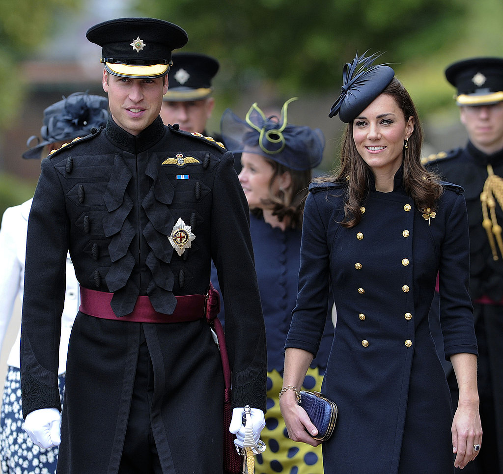 Before they left for their North American tour, William and Kate looked military sharp at an Irish Guard ceremony.