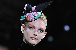 Corals, Orange and Winged Eyeliner at Giorgio Armani Prive at 2011 Haute Couture Paris Fashion Week