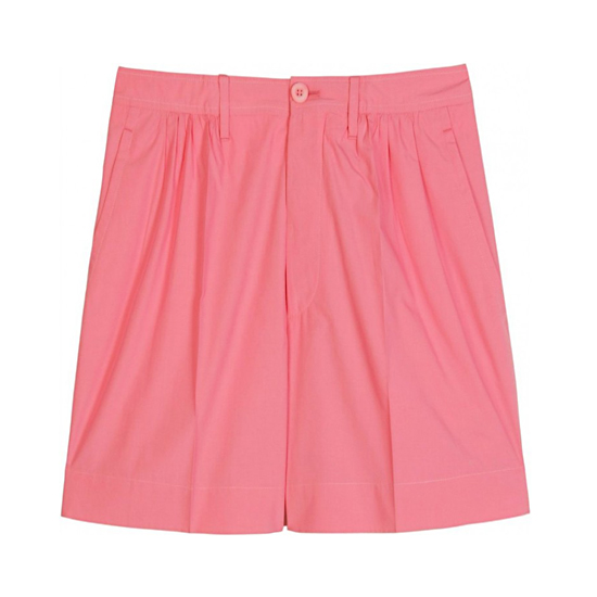 Miu Miu Pleated Shorts, $235   Pair with: