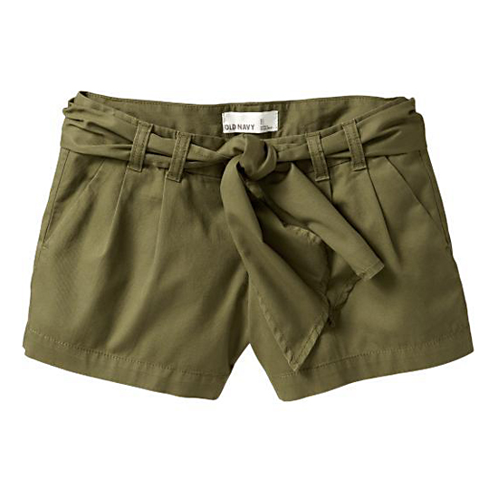 Old Navy Tie-Belt Shorts, $25   Pair with: