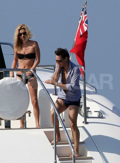 Kate Moss and Jamie Hince were on board friend Philip Green's yacht.
