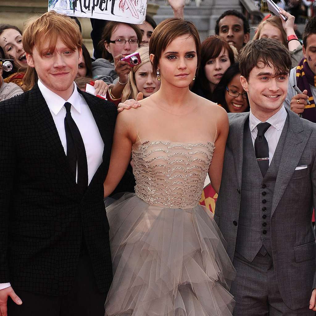Emma Watson, Daniel Radcliffe, and Rupert Grint at Deathly Hallows Part 2 Premiere