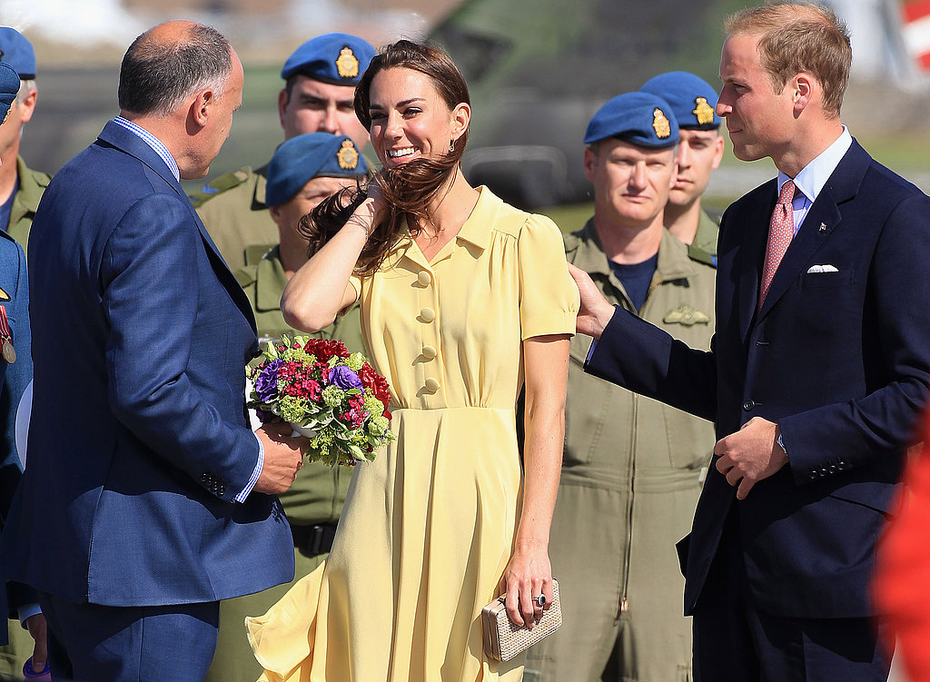 Kate Middleton and Prince William were greeted by the Canadian military.