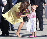 Kate Middleton accepted flowers from the sweet 6-year-old fan.