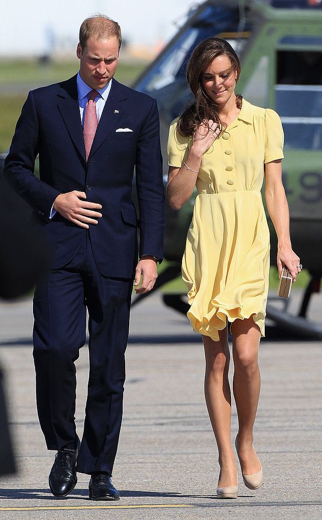 The Duke and Duchess chatted on their way to greet fans.