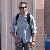 Shia LaBeouf was all smiles for a meeting in Hollywood.