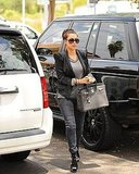 Kim Kardashian carried her Birkin into her meeting in LA.
