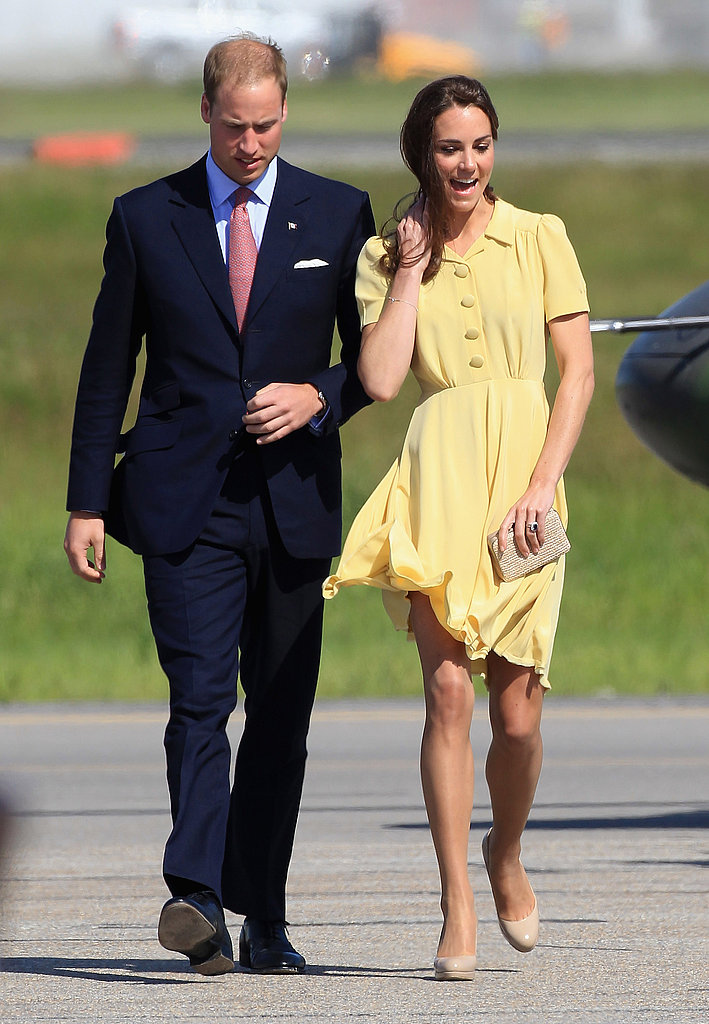 Kate Middleton wore a Jenny Packham dress.