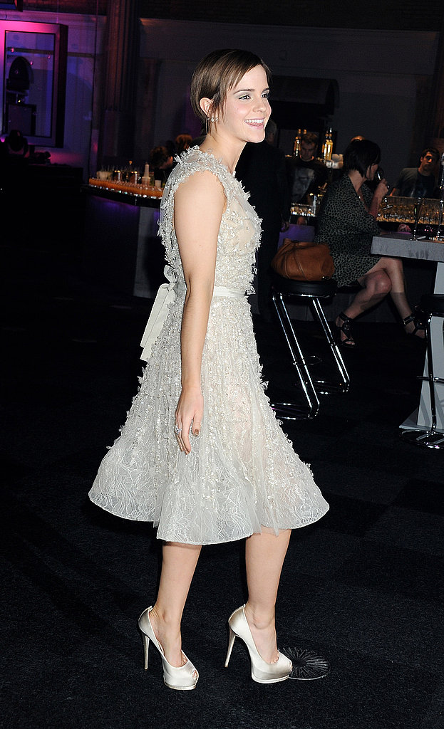 Emma Watson made her way into the party.