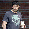 Ben Affleck Sporting Longer Hair at Starbucks in Brentwood
