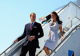 Kate Middleton and Prince William changed before stepping off their flight from Calgary.