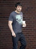 Ben Affleck was relaxed in a t-shirt and jeans.
