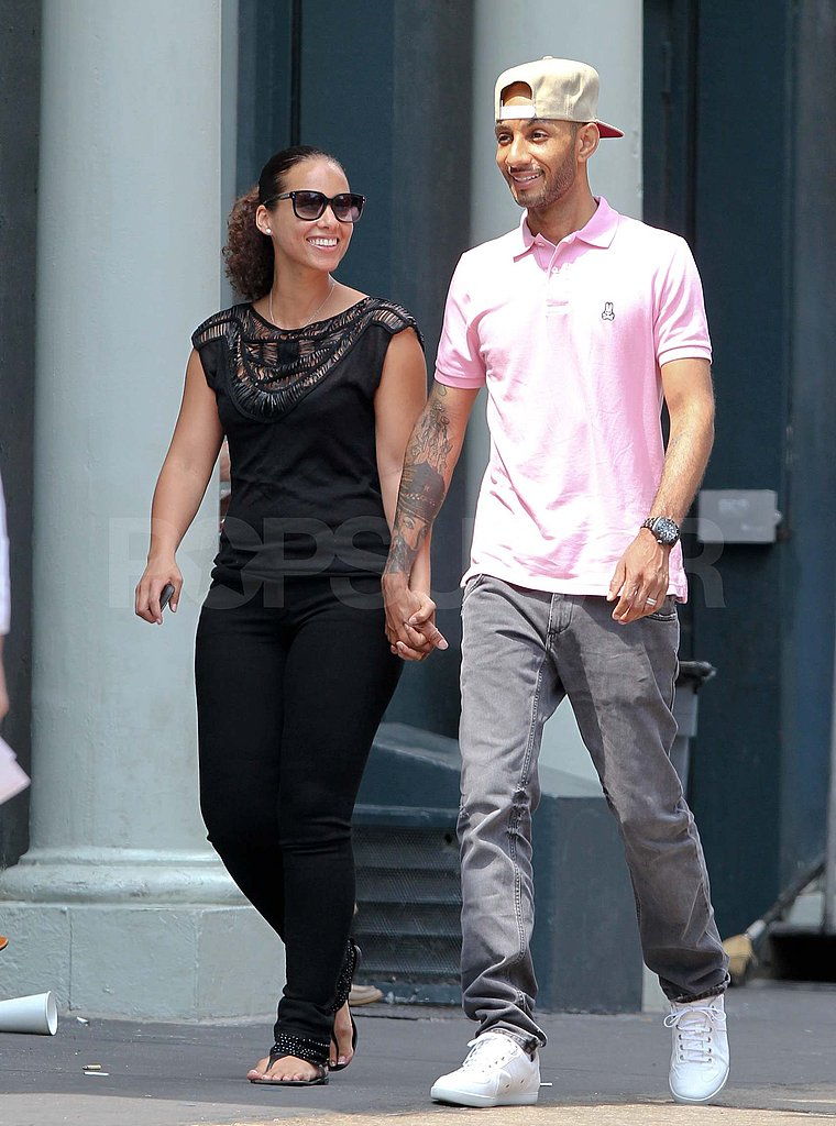 Alicia Keys and Swizz Beatz in NYC.