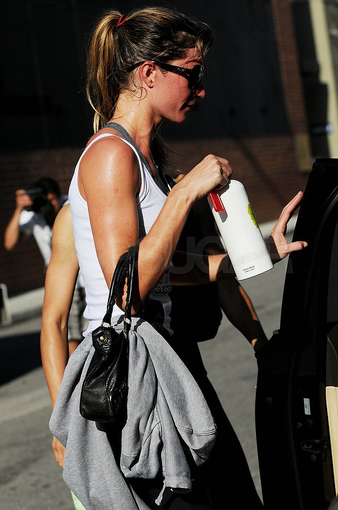 Gisele Bundchen had a fresh glow leaving her gym.