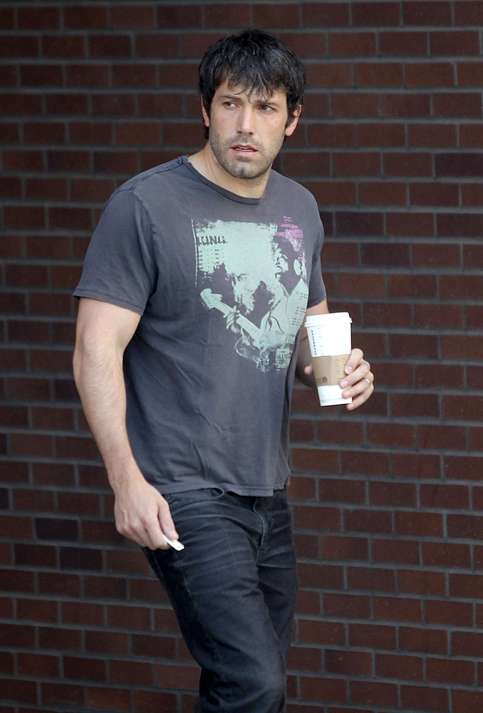 Ben Affleck went scruffy at Starbucks.